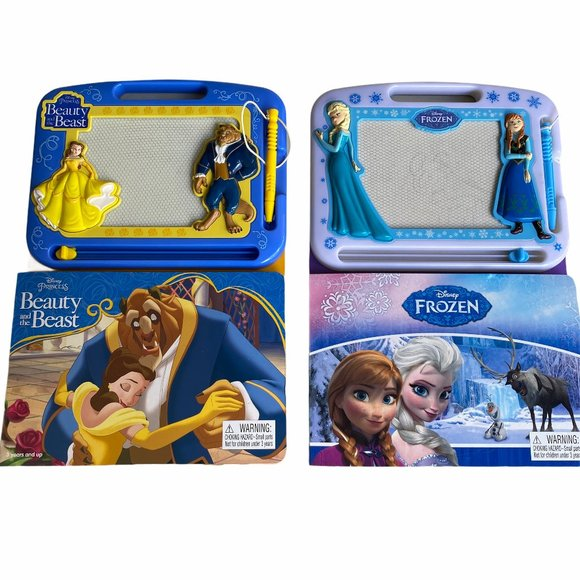 Lot of 2 Writing Drawing Magnetic Board Disney